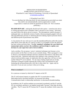 Mediation Worknotes v2 - School of Psychology Home