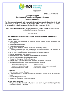 Extreme Weather Conditions - Preventative Measures [doc / 272KB]