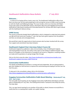 Healthwatch Staffordshire News Bulletin