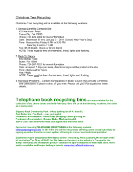 Christmas Tree Recycling Christmas Tree Recycling will be