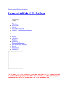 Curriculum Vitae - Georgia Institute of Technology