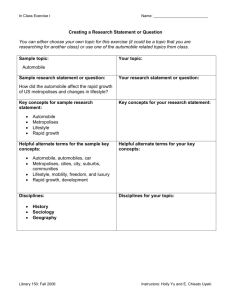 STEP ICreating a Research Statement or Question