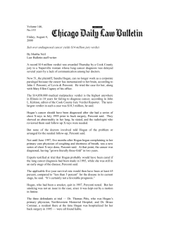 Chicago Daily Law Bulletin article 8/04/00