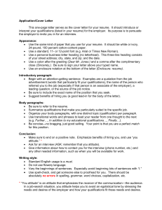 Application/Cover Letter