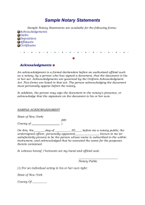 Sample Notary Statements DOC