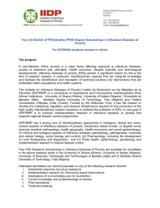 Four (4) Doctor of Philosophy (PhD) Degree Scholarships in