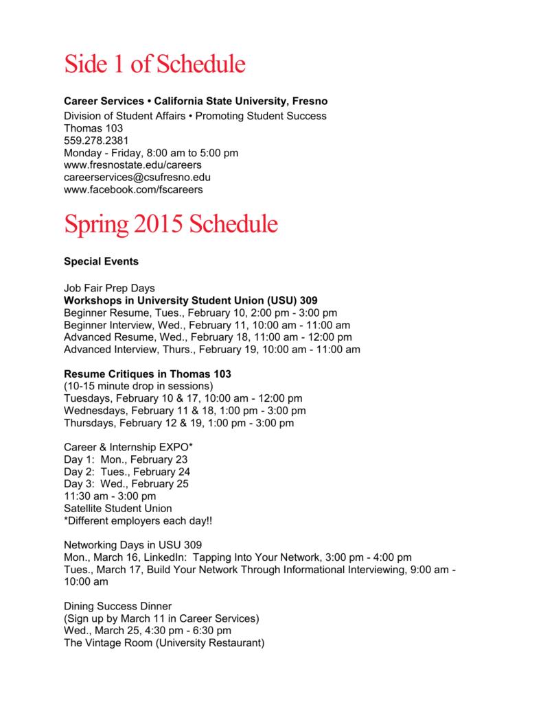 Resume Prep & Career Testing - Fresno