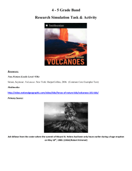 Volcanoes Research Simulation Task (RST)
