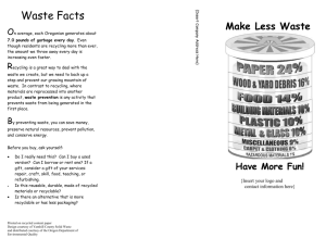Waste Prevention Brochure