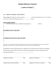 Student Behavior Contract