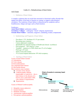 Cardiovascular 23 – Pathophysiology of Heart Failure