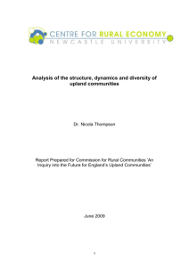 Analysis of the structure, dynamics and diversity of upland