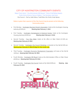 February Events - City of Huntington
