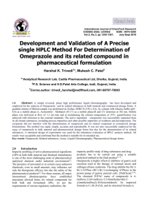 Development And Validation Of A Precise single HPLC Method For