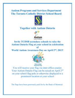 Autism Awareness -Raise Flag secondary schools