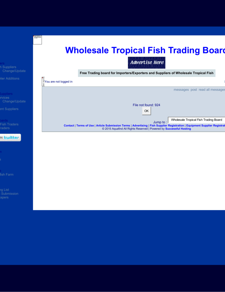 Wholesale Tropical Fish Trading Board