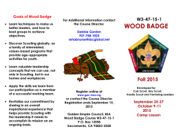 Goals of Wood Badge - Golden Empire Council
