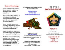 Wood Badge Ticket Item Workbook