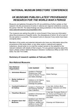 Summary of research updates at February 2006.