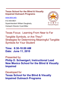 SchweigertHandout - Texas School for the Blind and Visually