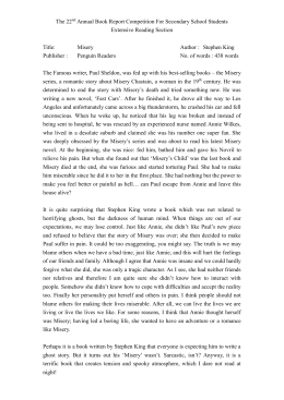 reaction paper short story misery by anton A mystery on the evening of easter sunday the actual civil councillor, navagin, on his return from paying calls, picked up the sheet of paper on which visitors had inscribed their names in the hall, and went with it into his study.
