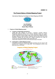 The Present Status of Global Mapping Project - UN-GGIM-AP