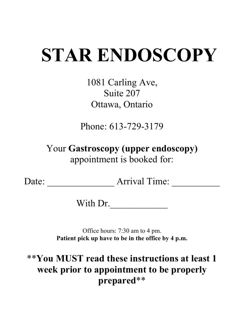 Endoscopy Suite: Star Endoscopy