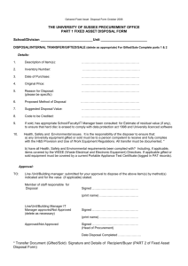 Fixed Asset Disposal Form (word document)