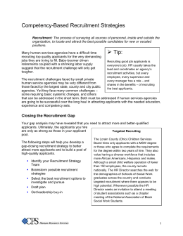 Recruitment Strategy Template. social recruiting strategy document ...