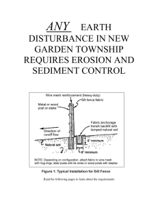 any earth disturbance in new garden township requires erosion and