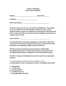 General Intervention Worksheet