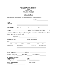 initial intake form