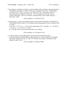 Problem Set III Chemistry 3100 Winter 2011 Dr. G. Van Biesen 1. By