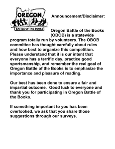The committee members of Oregon Battle of the Books has thought