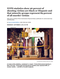 NYPD statistics show 96 percent of shooting victims are black or