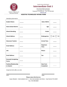 Assistive Technology Intake Form