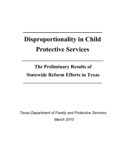 Disproportionality in Child Protective Services: The