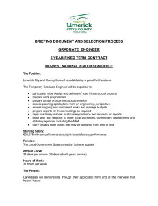 Briefing Document – Graduate Engineer
