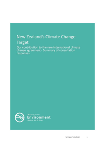 Comments on target - Ministry for the Environment