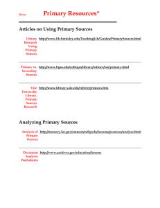Links to Primary Sources
