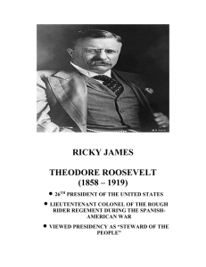 Theodore Roosevelt, The Strenuous Life (1900)