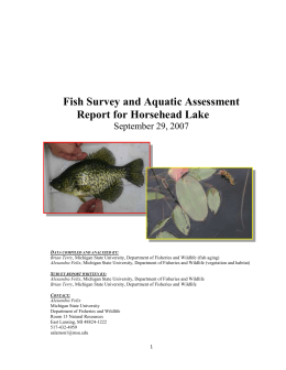 Fish Survey and Aquatic Assessment Report for Horsehead Lake
