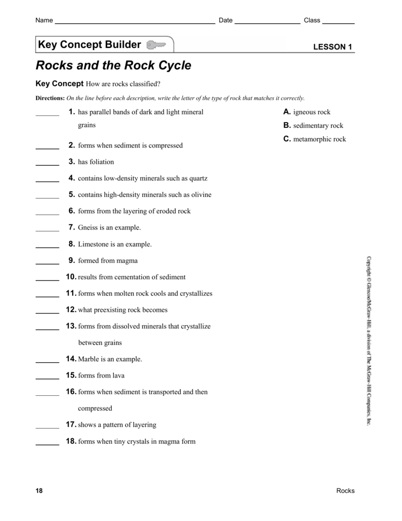 All Grade Worksheets Rocks And Minerals Worksheets All Grade – Rocks and Minerals Worksheet