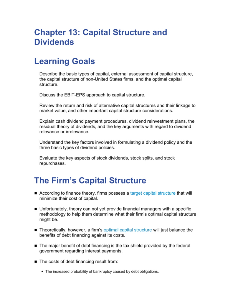 why is capital structure important
