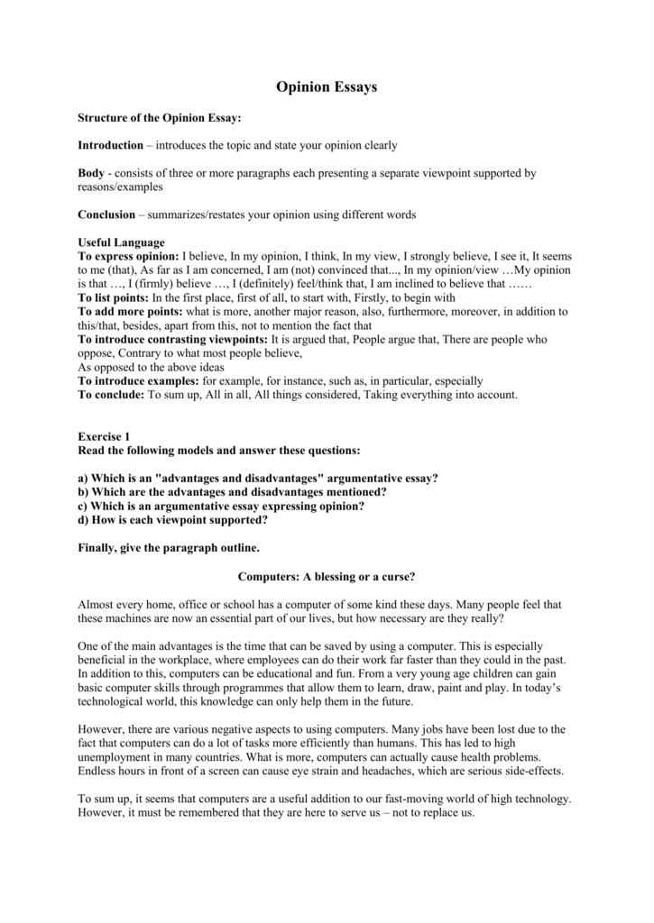 Opinion Essays Fedebacaepng