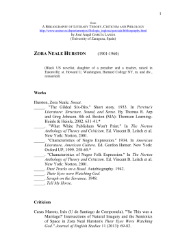 feminism in sweat by zora hurst Example research essay topic sweat by zora neale hurston  the first part of  the story zora neale hurston feminism sweat topics in sweat zora neale  hurston.