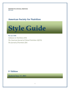 The American Journal of Clinical Nutrition (AJCN)
