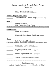 Junior Livestock Show & Sale Forms