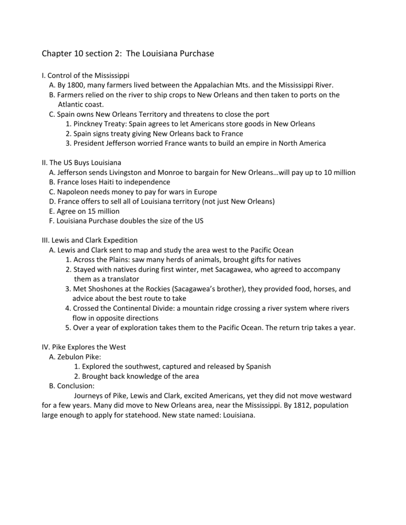 Worksheets Louisiana Purchase Worksheet chapter 10 section 2 the louisiana purchase