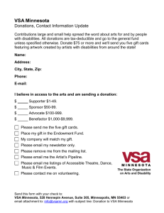VSA arts of Minnesota donation form
